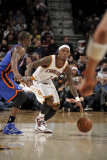New York Knicks v Cleveland Cavaliers: Daniel Gibson and Raymond Felton Photographic Print by David Liam Kyle