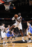 Golden State Warriors v San Antonio Spurs: DeJuan Blair Photographic Print by D. Clarke Evans