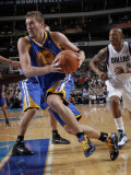Golden State Warriors v Dallas Mavericks: David Lee and Caron Butler Photographic Print by Glenn James