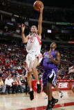 Sacramento Kings v Houston Rockets: Kevin Martin and Jason Thompson Photographic Print by Bill Baptist