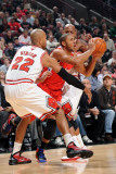 Los Angeles Clippers v Chicago Bulls: Eric Gordon, Taj Gibson and Keith Bogans Photographic Print by Randy Belice