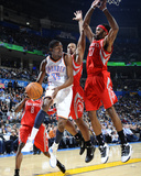 Houston Rockets v Oklahoma City Thunder: Kevin Durant and Jordan Hill Photographic Print by Larry W. Smith