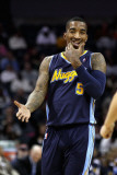 Denver Nuggets v Charlotte Bobcats: J.R. Smith Photographic Print by Streeter 
