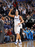 New Orleans Hornets v Dallas Mavericks: Dirk Nowitzki Photographic Print by Layne Murdoch