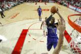 Sacramento Kings v Houston Rockets: Jason Thompson and Chuck Hayes Photographic Print by Bill Baptist