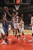 Minnesota Timberwolves v Chicago Bulls: Taj Gibson, Nikola Pekovic and Michael Beasley Photographic Print by Ray Amati