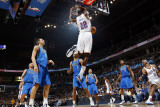 Dallas Mavericks v Oklahoma City Thunder: Jeff Green and Dirk Nowitzki Photographic Print by Layne Murdoch