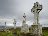 Old Crosses in a Graveyard on a Lush Remote Island Photographic Print by Jim Richardson