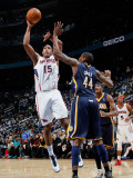 Indiana Pacers v Atlanta Hawks: Al Horford and Solomon Jones Photographic Print by Kevin Cox