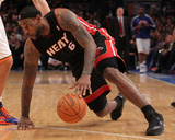 Miami Heat v New York Knicks: LeBron James Photographic Print by Al Bello