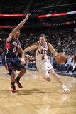 Atlanta Hawks v New Jersey Nets: Jordan Farmar and Jeff Teague Photographic Print by David Dow