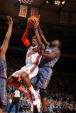 Charlotte Bobcats v New York Knicks: Amar'e Stoudemire and Nazr Mohammad Photographic Print by Nathaniel S. Butler