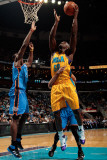 Oklahoma City Thunder v New Orleans Hornets: Emeka Okafor and Serge Ibaka Photographic Print by Chris