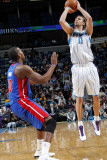 Detroit Pistons v New Orleans Hornets: David Anderson and Greg Monroe Photographic Print by Layne Murdoch
