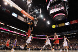 Chicago Bulls v Phoenix Suns: James Johnson and Jared Dudley Photographic Print by Christian Petersen