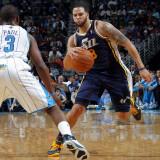 Utah Jazz v New Orleans Hornets: Deron Williams and Chris Paul Photographic Print by Layne Murdoch