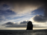 Fog Lifts to Reveal Boreray Perched Far Out in the Atlantic Photographic Print by Jim Richardson
