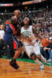 Atlanta Hawks v Boston Celtics: Marquis Daniels Photographic Print by Steve Babineau