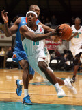 Tulsa 66ers v Sioux Falls Skyforce: Jonny Flynn and Zabian Dowdell Photographic Print by Dave Eggen