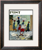 """Sunday Morning"" Saturday Evening Post Cover, May 16,1959 Framed Giclee Print by Norman Rockwell"