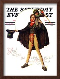 """Tiny Tim"" or ""God Bless Us Everyone"" Saturday Evening Post Cover, December 15,1934 Framed Giclee Print by Norman Rockwell"