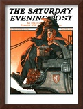 """London Coach"" Saturday Evening Post Cover, December 5,1925 Framed Giclee Print by Norman Rockwell"