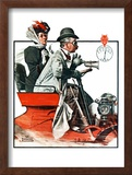 &quot;Speeding Along&quot;, July 19,1924 Framed Giclee Print by Norman Rockwell