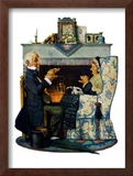 """""""Tea for Two"""" or """"Tea Time"""", October 22,1927 Framed Giclee Print by Norman Rockwell"""