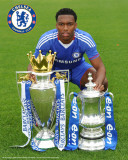 Chelsea_Sturridge-with Trophies Foto