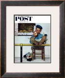 """Lion and His Keeper"" Saturday Evening Post Cover, January 9,1954 Framed Giclee Print by Norman Rockwell"
