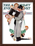 """Census-taker"" Saturday Evening Post Cover, April 27,1940 Framed Giclee Print by Norman Rockwell"