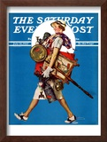 """At the Auction"" or ""Found Treasure"" Saturday Evening Post Cover, July 31,1937 Framed Giclee Print by Norman Rockwell"