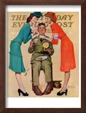 """Willie Gillis at the U.S.O."" Saturday Evening Post Cover, February 7,1942 Framed Giclee Print by Norman Rockwell"