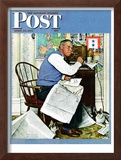 """Armchair General"" Saturday Evening Post Cover, April 29,1944 Framed Giclee Print by Norman Rockwell"
