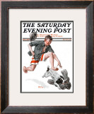 """Runaway Pants"" Saturday Evening Post Cover, August 9,1919 Framed Giclee Print by Norman Rockwell"