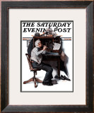 """Flutist"" or ""Spring Song"" Saturday Evening Post Cover, May 16,1925 Framed Giclee Print by Norman Rockwell"