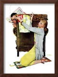"""Decorator"", March 30,1940 Framed Giclee Print by Norman Rockwell"