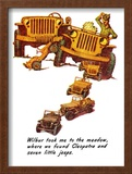 """""""The Wonderful Life of Wilbur the Jeep"""" E, January 29,1944 Framed Giclee Print by Norman Rockwell"""