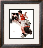 """Champ or Be a Man"", April 29,1922 Framed Giclee Print by Norman Rockwell"