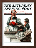 """Thoughtful Shopper"" Saturday Evening Post Cover, May 3,1924 Framed Giclee Print by Norman Rockwell"