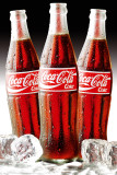 COCA COLA - Bottles Ice Plakater