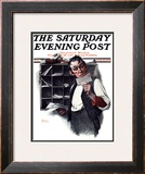 """Sorting the Mail"" Saturday Evening Post Cover, February 18,1922 Framed Giclee Print by Norman Rockwell"