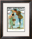 """Milkmaid"" Saturday Evening Post Cover, July 25,1931 Framed Giclee Print by Norman Rockwell"