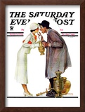 """Bargaining with Antique Dealer"" Saturday Evening Post Cover, May 19,1934 Framed Giclee Print by Norman Rockwell"