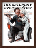"""""""Setting One's Sights"""" or """"Ship Ahoy"""" Saturday Evening Post Cover, August 19,1922 Framed Giclee Print by Norman Rockwell"""