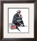 """Man and Dog"" or ""Pals"", September 27,1924 Framed Giclee Print by Norman Rockwell"