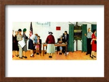 """Norman Rockwell Paints America at the Polls"", November 4,1944 Framed Giclee Print by Norman Rockwell"