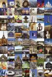 Collage med billeder fra Paris Plakater