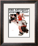 """Champ"" or ""Be a Man"" Saturday Evening Post Cover, April 29,1922 Framed Giclee Print by Norman Rockwell"