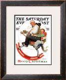 """Gramps on Rocking Horse"" Saturday Evening Post Cover, December 16,1933 Framed Giclee Print by Norman Rockwell"